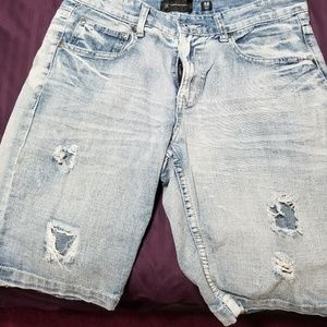 Men jean destroyed/distressed shorts